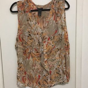 Sheer, sleeveless blouse from Lane Bryant, size 26